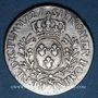 Monnaies Louis XV (1715-1774). 1/5 écu aux lauriers 1727 &. Aix
