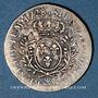 Monnaies Louis XV (1715-1774). 1/5 écu aux lauriers 1728 &. Aix