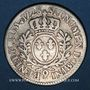 Monnaies Louis XV (1715-1774). 1/5 écu aux lauriers 1728. Rennes