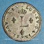 Monnaies Louis XV (1715-1774). Double sol en billon 1762 BB. Strasbourg