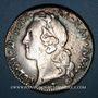 Monnaies Louis XV (1715-1774). Ecu au bandeau 1745 &. Aix