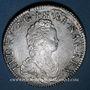 Monnaies Louis XV (1715-1774). Ecu vertugadin 1716 Y. Bourges