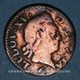 Monnaies Louis XV (1715-1774). Liard à la vieille tête 1770 W. Lille