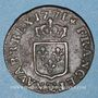 Monnaies Louis XV (1715-1774). Liard à la vieille tête 1771. Besançon