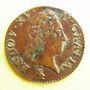 Monnaies Louis XV (1715-1774). Liard à la vieille tête 1771 V. Troyes