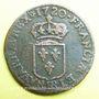 Monnaies Louis XV (1715-1774). Liard au buste enfantin 1720 BB. Strasbourg