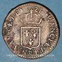 Monnaies Louis XV (1715-1774). Liard au buste enfantin 1721. Besançon. Légende fautive !