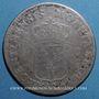 Monnaies Louis XV (1715-1774). Monnayage particulier de Strasbourg. 40 sols 1716BB réformé sur 44 sols 1712