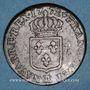 Monnaies Louis XV (1715-1774). Sol à la vieille tête 1772. Besançon