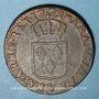 Monnaies Louis XV (1715-1774). Sol à la vieille tête 1772V. Troyes
