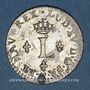 Monnaies Louis XV (1715-1774). Sol en billon 1740 BB. Strasbourg