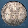 Monnaies Louis XV (1715-1774). XX sols de Navarre 1720 D. Lyon
