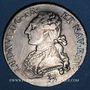 Monnaies Louis XVI (1774-1793). 1/2 écu aux lauriers 1791 A (pointé à gauche). Léopard. 2e semestre
