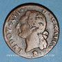 Monnaies Louis XVI (1774-1793). 1/2 sol 1782 &. Aix. Différent sous le buste : étoile