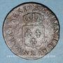Monnaies Louis XVI (1774-1793). 1/2 sol 1782&. Aix. Différent sous le buste : arc