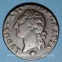 Monnaies Louis XVI (1774-1793). 1/2 sol 1782&. Aix. Différent sous le buste : étoile