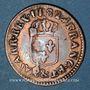 Monnaies Louis XVI (1774-1793). Liard 1782&. Aix. Etoile