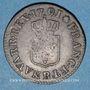 Monnaies Louis XVI (1774-1793). Liard 1791 B. Rouen. 1er semestre
