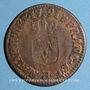 Monnaies Louis XVI (1774-1793). Liard 1791 H. La Rochelle
