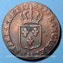Monnaies Louis XVI (1774-1793). Sol 1784 AA. Metz