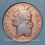 Monnaies Louis XVI (1774-1793). Sol 1785 BB. Strasbourg. Grand BB