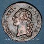 Monnaies Louis XVI (1774-1793). Sol 1791 D. Lyon. 1er semestre