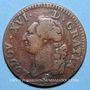 Monnaies Louis XVI (1774-1793). Sol 1791A.