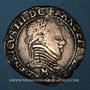 Monnaies Monnayage de la Ligue au nom de Henri III (1589-1596). 1/2 franc 1591 M et point 5e. Toulouse