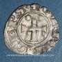Monnaies Orient Latin. Princes d'Achaïe. Guillaume de Villehardouin (1245-1278). Denier tournois