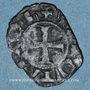 Monnaies Orient Latin. Principauté d'Achaïe. Maude de Hainaut (1316-1318). Denier tournois