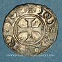 Monnaies Orient Latin. Royaume de Jérusalem. Monnayge anonyme. Denier. Acre
