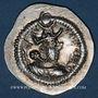 Monnaies Afghanistan. Hephtalites en Bactriane (fin 5e siècle). Imitation d'une drachme de Péroz 454-484