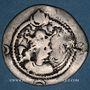 Monnaies Afghanistan. Hephtalites en Bactriane (?) (fin 5e siècle). Imitation d'une drachme de Peroz (459-84)