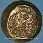Monnaies Afghanistan. Kidarites en Bactriane. Kidara (4e – 5e siècle). Dinar scyphate frappé à Bactres