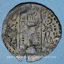 Monnaies Huns iraniens. Alkhon-Nezac, roi incertain (fin du VI - début du VIIe siècle). Drachme. Zaboulistan
