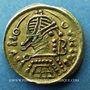Monnaies Les Lombards. Perctarit (672-688). Triens frappé en Toscane (Italie)