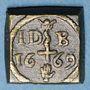 Monnaies Ecosse. Poids monétaire de l'épée et sceptre d'or de Jacques VI (I d'Angleterre)