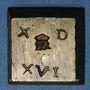 Monnaies Espagne. Poids monétaire de 4 réaux de Ferdinand et Isabelle (1474-1504). Fabrication française