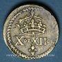 Monnaies Espagne. Poids monétaire de la quadruple pistole de Charles Quint milieu du XVIIIe
