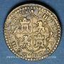 Monnaies Espagne. Poids monétaire du double réal de Philippe III. Fabrication française (1650), à Beauvais