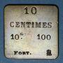 Monnaies France. Poids étalon de la 10 centimes, poids fort