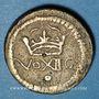 Monnaies Louis XIII (1643-1715). Poids monétaire du demi-franc