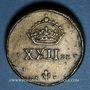 Monnaies Pays Bas du Sud. Poids monétaire de la daldre de Bourgogne ou patagon de Philippe IV (1621-1665)
