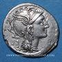 Monnaies Appius Claudius Pulcher, T. Manlius Mancinus et Q. Urbinus (vers 111-110 av. J-C). Denier