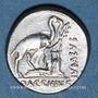 Monnaies République romaine. A. Plautius (vers 55 av. J-C). Denier