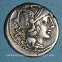 Monnaies République romaine. Atilius Saranus (vers 155 av. J-C). Denier. Variante C SAR