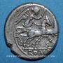 Monnaies République romaine. Atilius Saranus (vers 155 av. J-C). Denier
