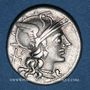 Monnaies République romaine. Aurelius Rufus (vers 144 av. J-C). Denier
