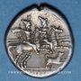 Monnaies République romaine. C. Antestius (vers 146 av. J-C). Denier fourré