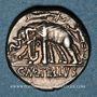 Monnaies République romaine. C. Caecilius Metellus Capriarus (vers 125 av. J-C). Denier